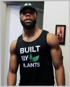 Najee Kelley wearing Built By Plants Tank Top