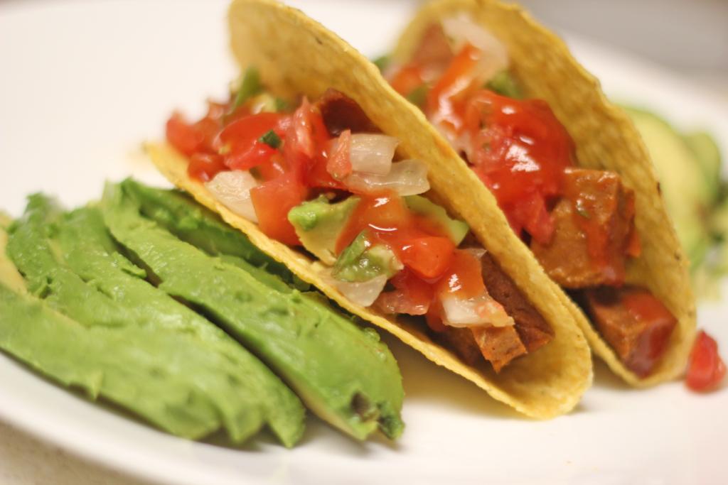 Chipotle Seitan Avocado Tacos